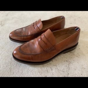 JCrew Italian Leather Oar Stripe Penny Loafers